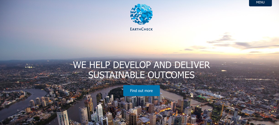 Website translation example 1: EarthCheck website
